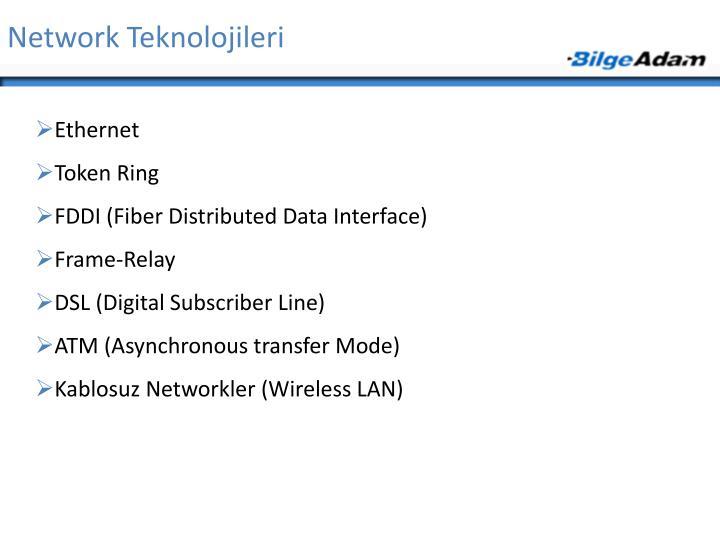 Network Teknolojileri