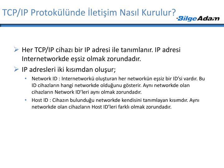 TCP/IP Protokülünde İletişim Nasıl Kurulur?