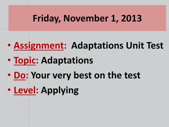 Friday, November 1, 2013
