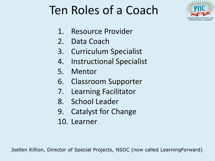 Ten Roles of a Coach