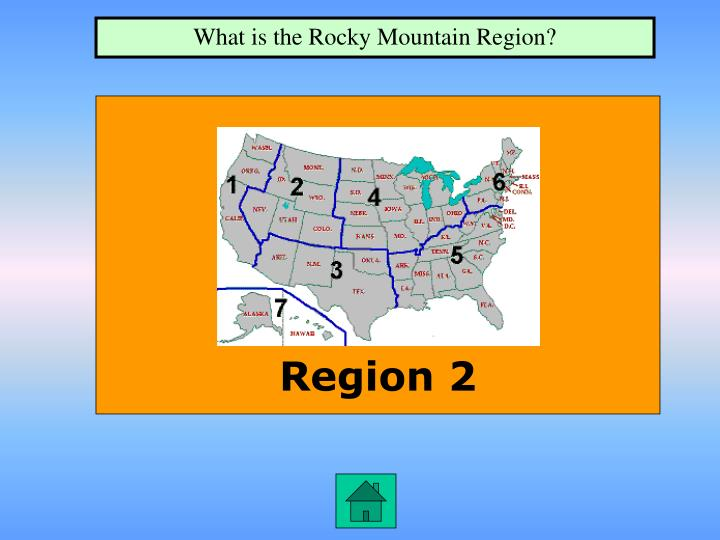 What is the Rocky Mountain Region?