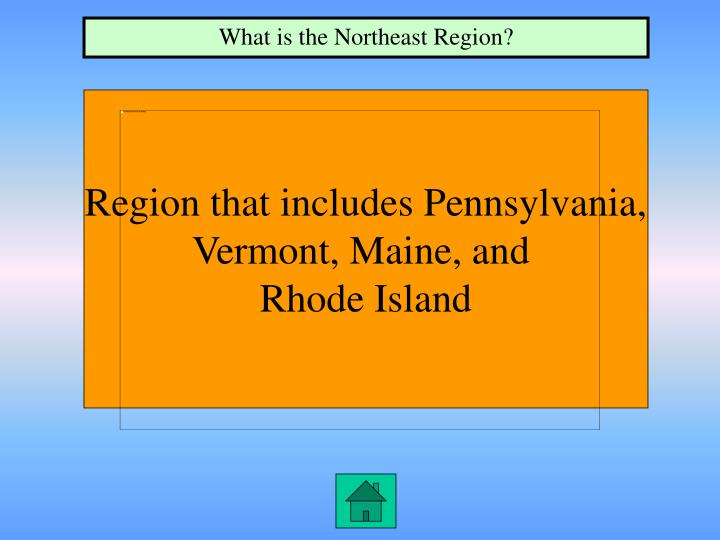 What is the Northeast Region?