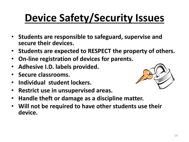 Device Safety/Security Issues