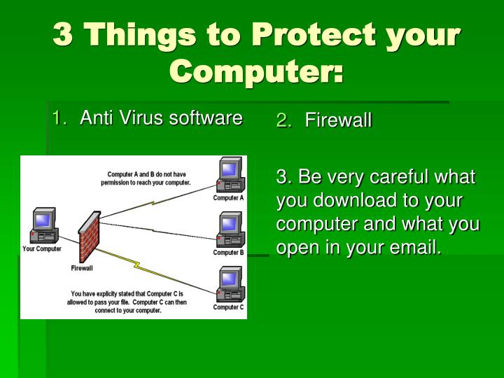 3 Things to Protect your Computer: