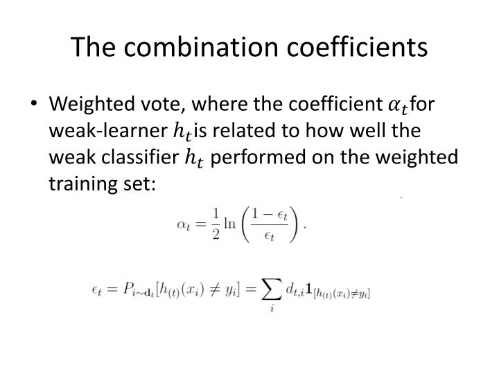 The combination coefficients