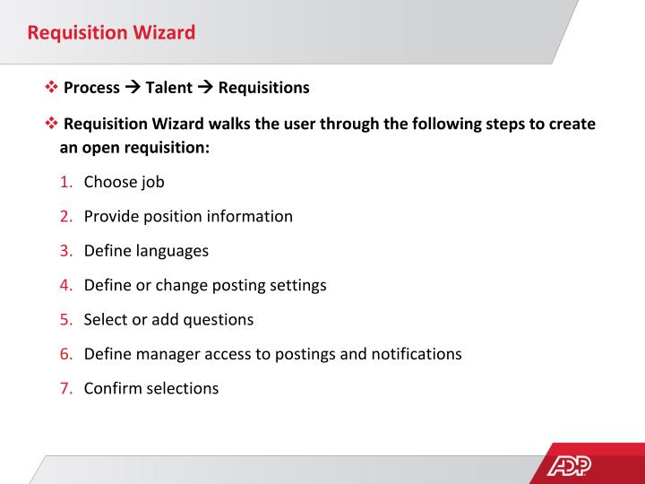 Requisition Wizard