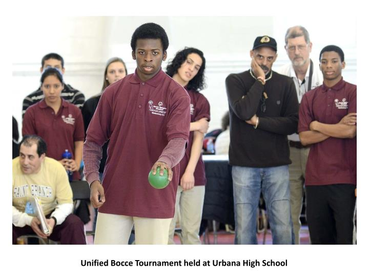 Unified Bocce Tournament held at Urbana High School