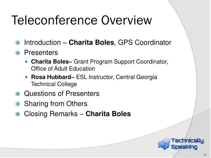 Teleconference Overview