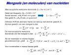 mengsels en moleculen van nucle den