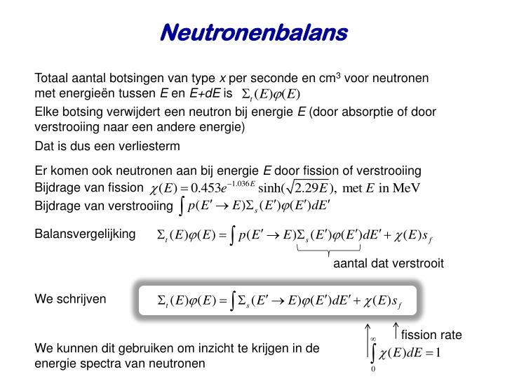 Neutronenbalans