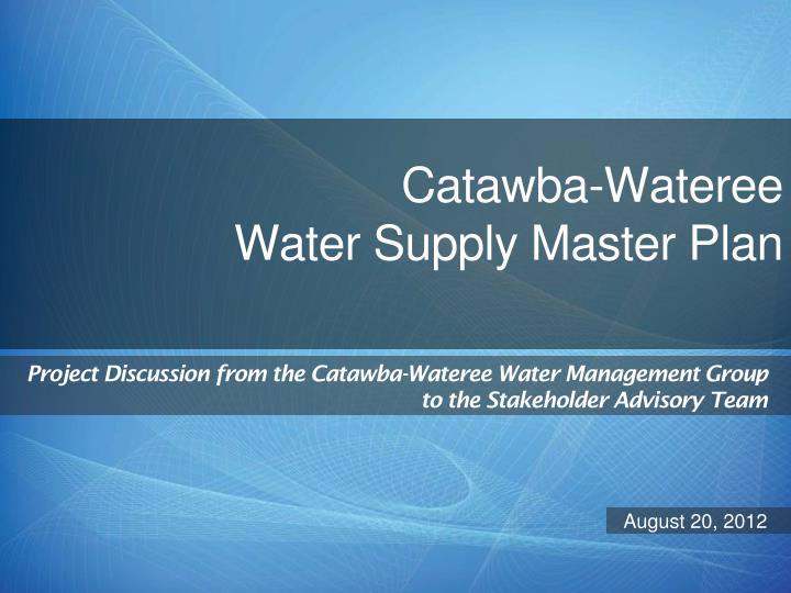 Catawba wateree water supply master plan