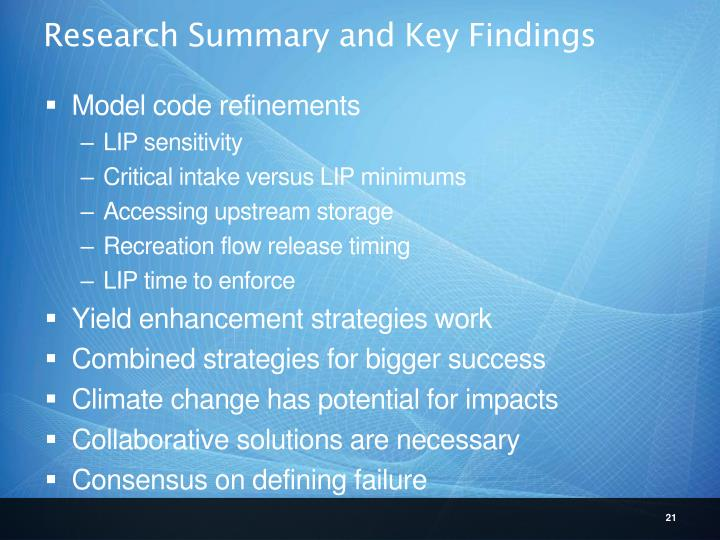 Research Summary and Key Findings