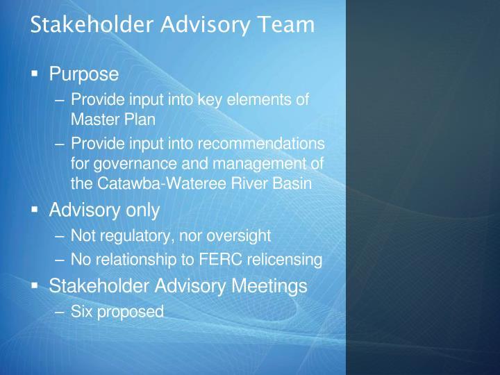 Stakeholder Advisory Team