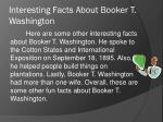 interesting facts about booker t washington