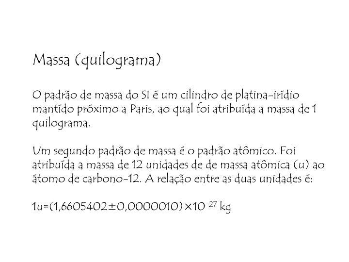 Massa (quilograma)