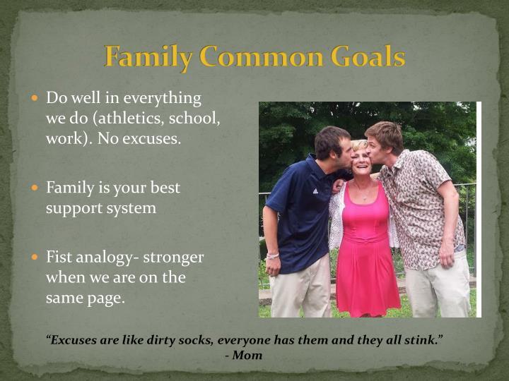 Family Common Goals