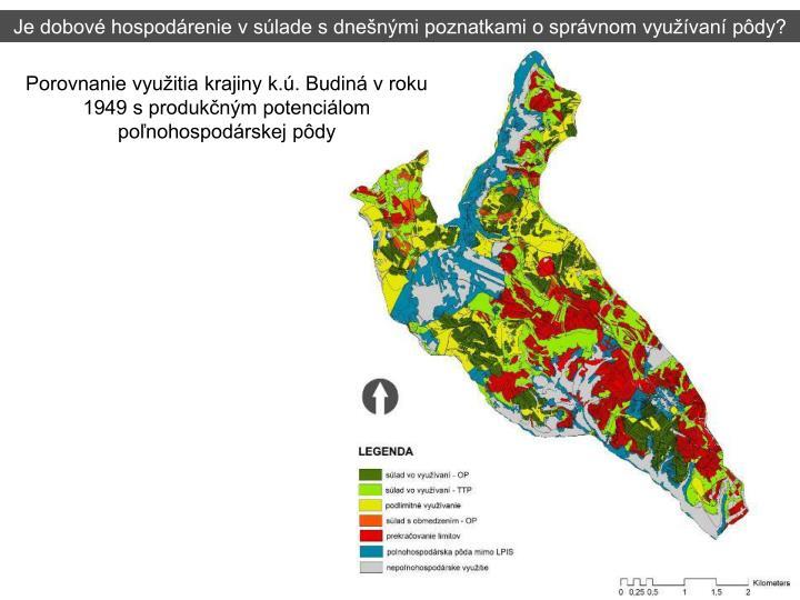 Je dobové hospodárenie v súlade s dnešnými poznatkami o správnom využívaní pôdy?