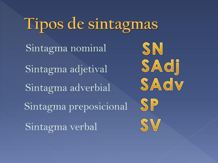 Tipos de sintagmas