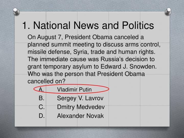 1. National News and Politics