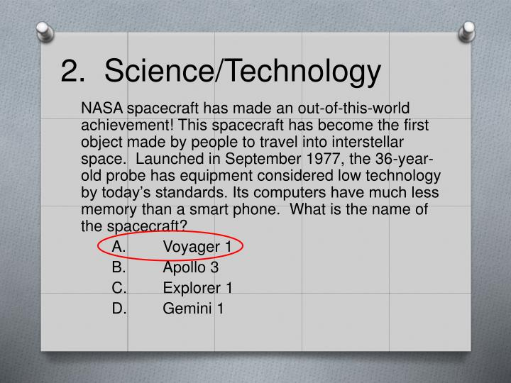 2.  Science/Technology