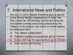 7 international news and politics