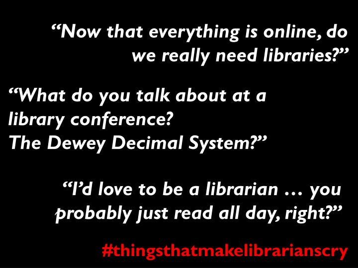 """Now that everything is online, do we really need libraries?"""