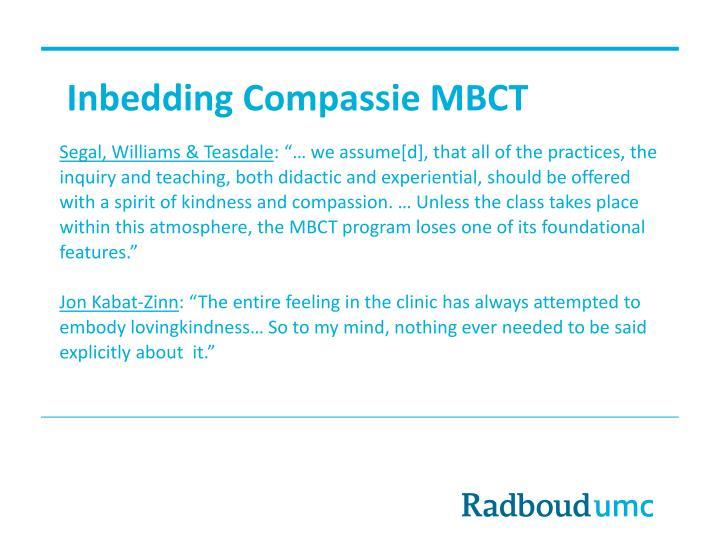 Inbedding Compassie MBCT
