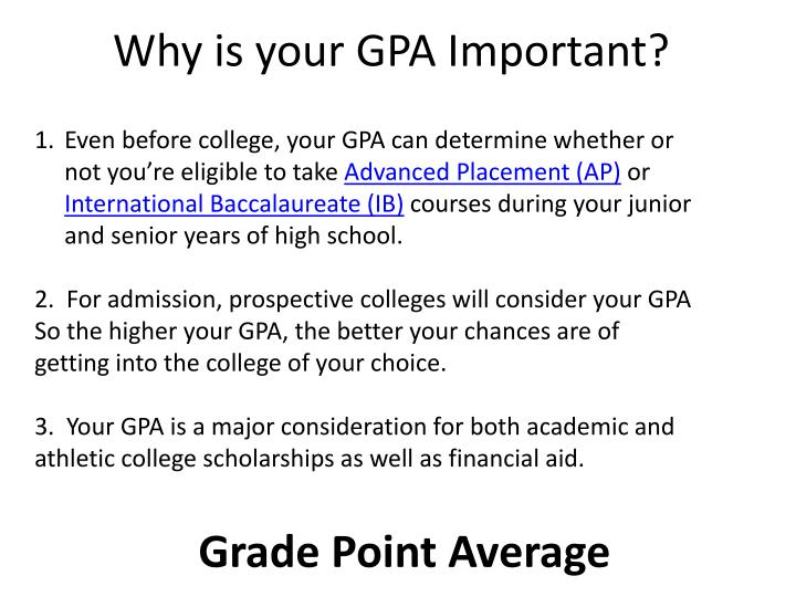 Why is your GPA Important?