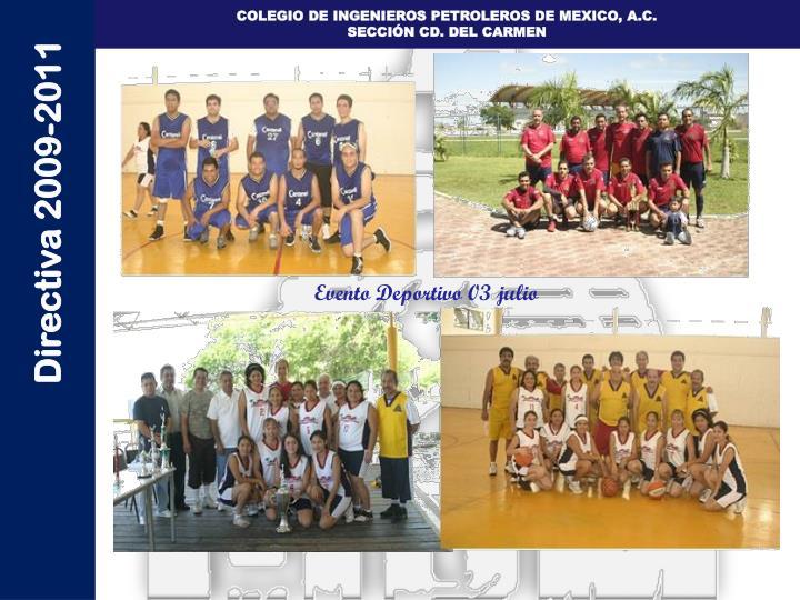 Evento Deportivo 03 julio