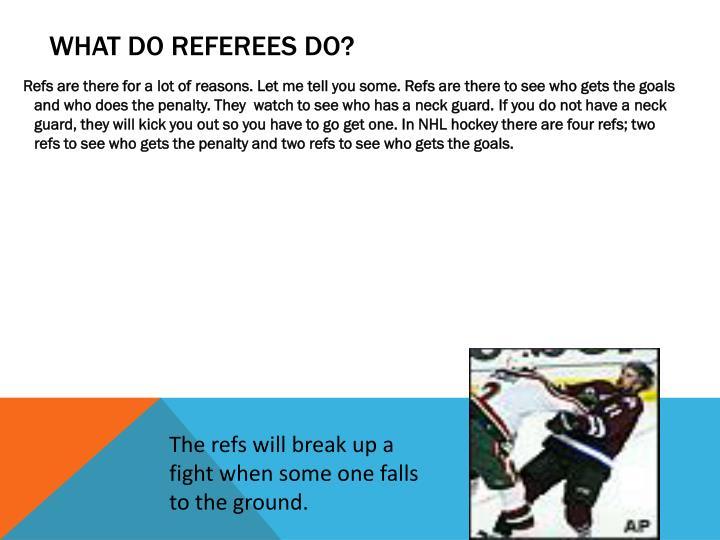 What do Referees Do?