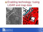 enabling technology fusing lidar and map data