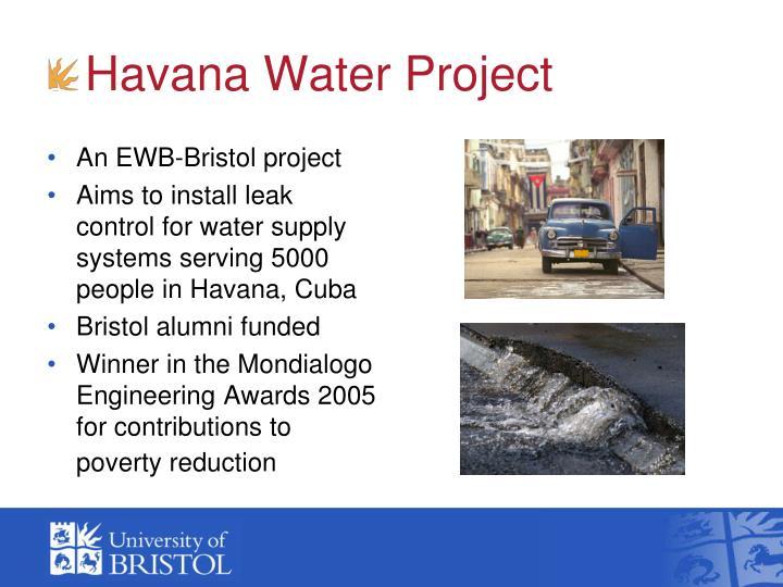 An EWB-Bristol project