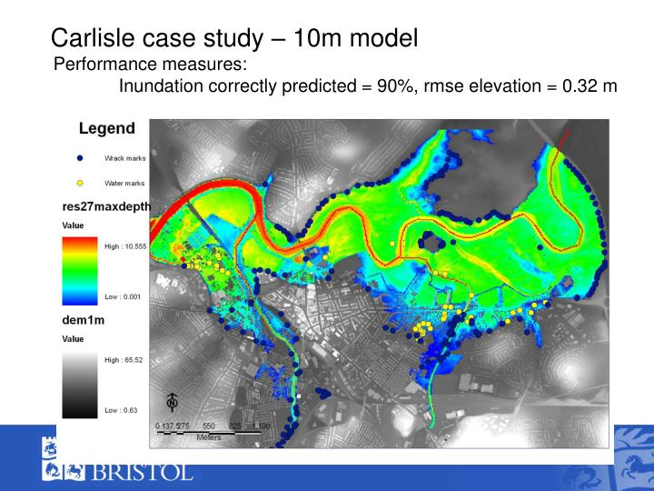 Carlisle case study – 10m model