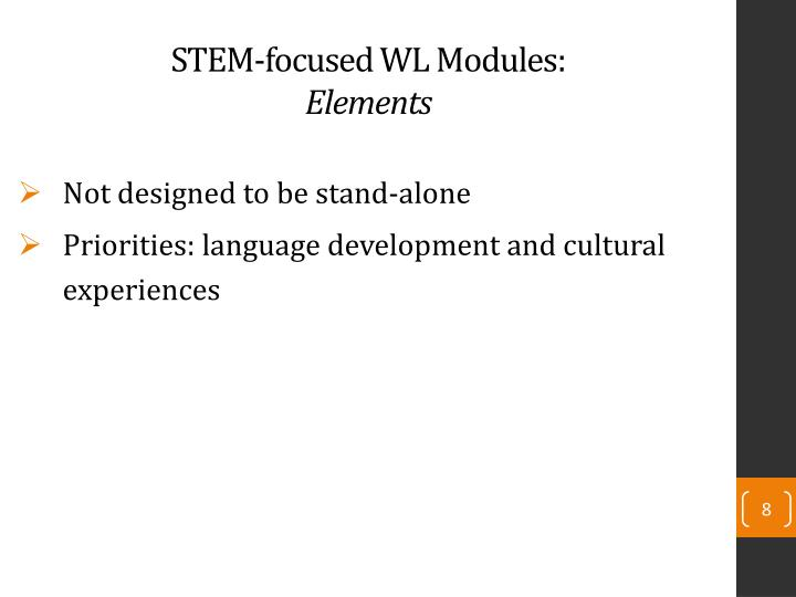 STEM-focused WL Modules: