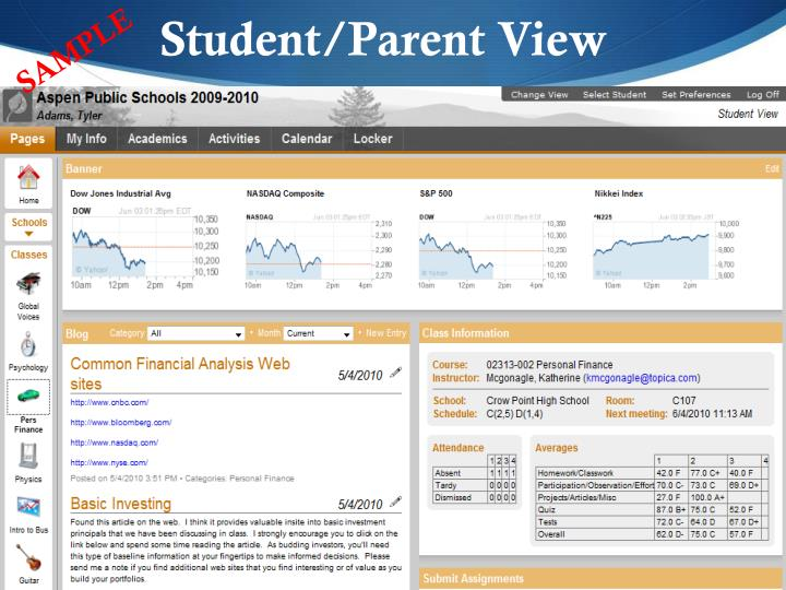 Student/Parent View