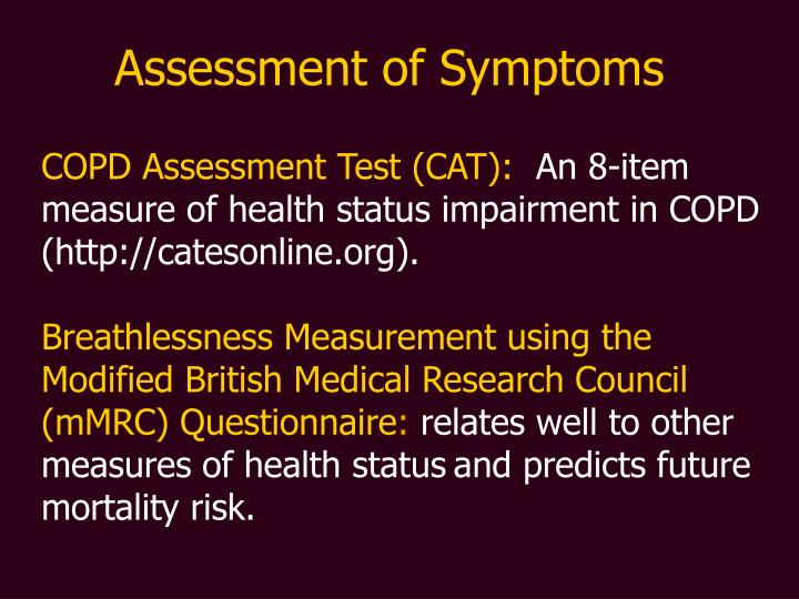 Assessment of Symptoms