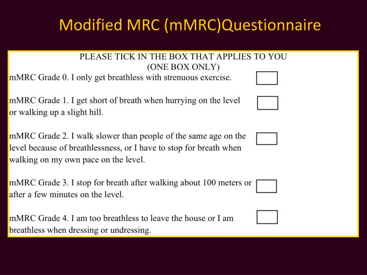 Modified MRC (
