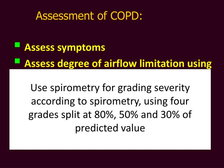 Assessment of COPD: