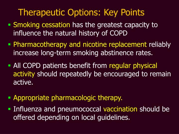 Therapeutic Options: Key Points