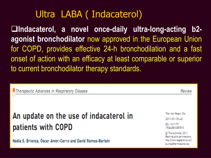 Ultra  LABA ( Indacaterol)