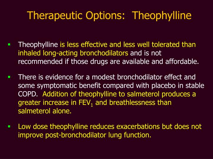 Therapeutic Options:  Theophylline