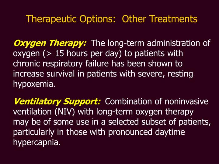 Therapeutic Options: