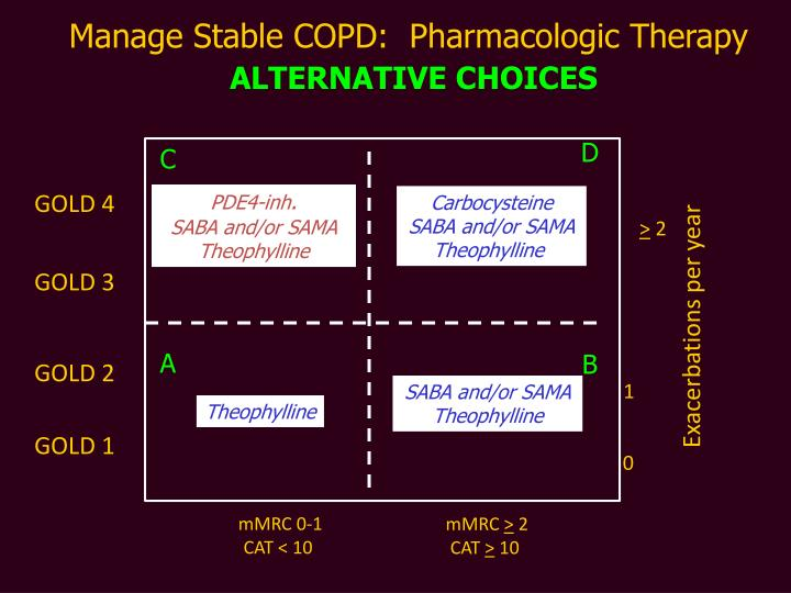 Manage Stable COPD:  Pharmacologic Therapy