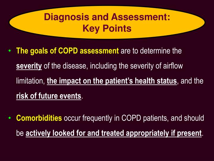 Diagnosis and Assessment: Key Points