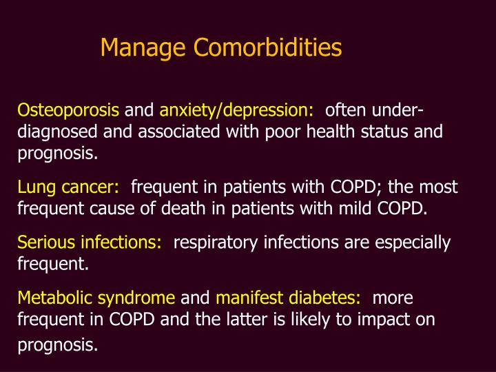 Manage Comorbidities