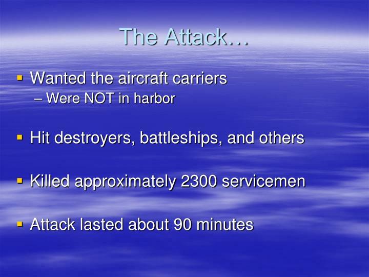 The Attack…