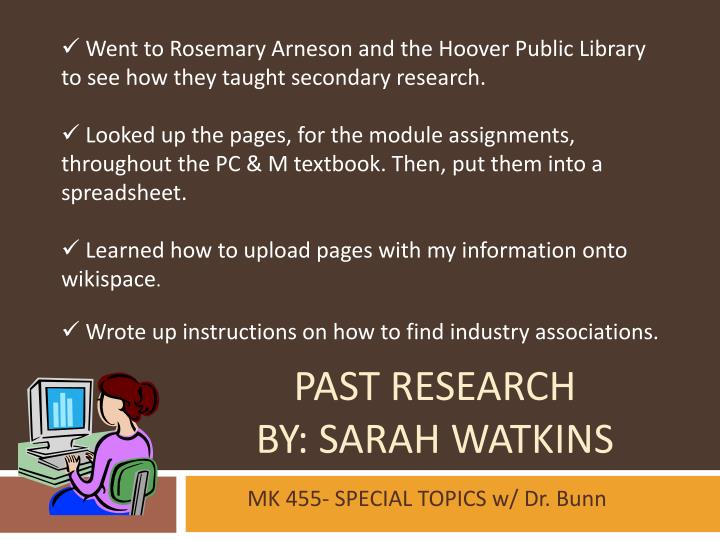 Past research by sarah watkins