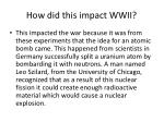 how did this impact wwii