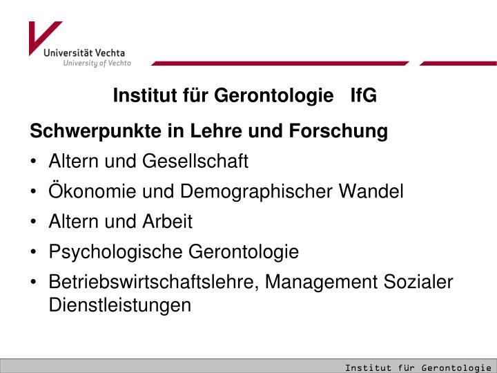 Institut für Gerontologie