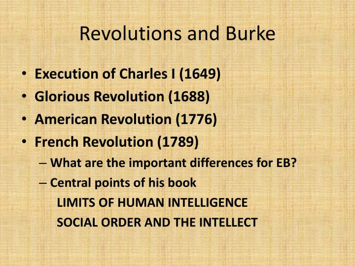 Revolutions and Burke